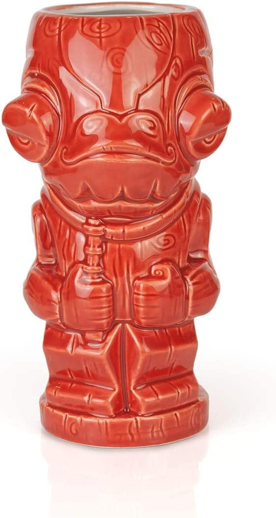 Geeki Tikis Star Wars Admiral Ackbar Mug | Official Star Wars Collectible Tiki Style Ceramic Cup | Holds 19 Ounces
