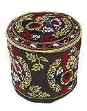 Boho Décor nero ottomano tradizionale Rotondo floreale ricamato poggiapiedi copertura Bohemian cotone Pouf coperchio Rajrang