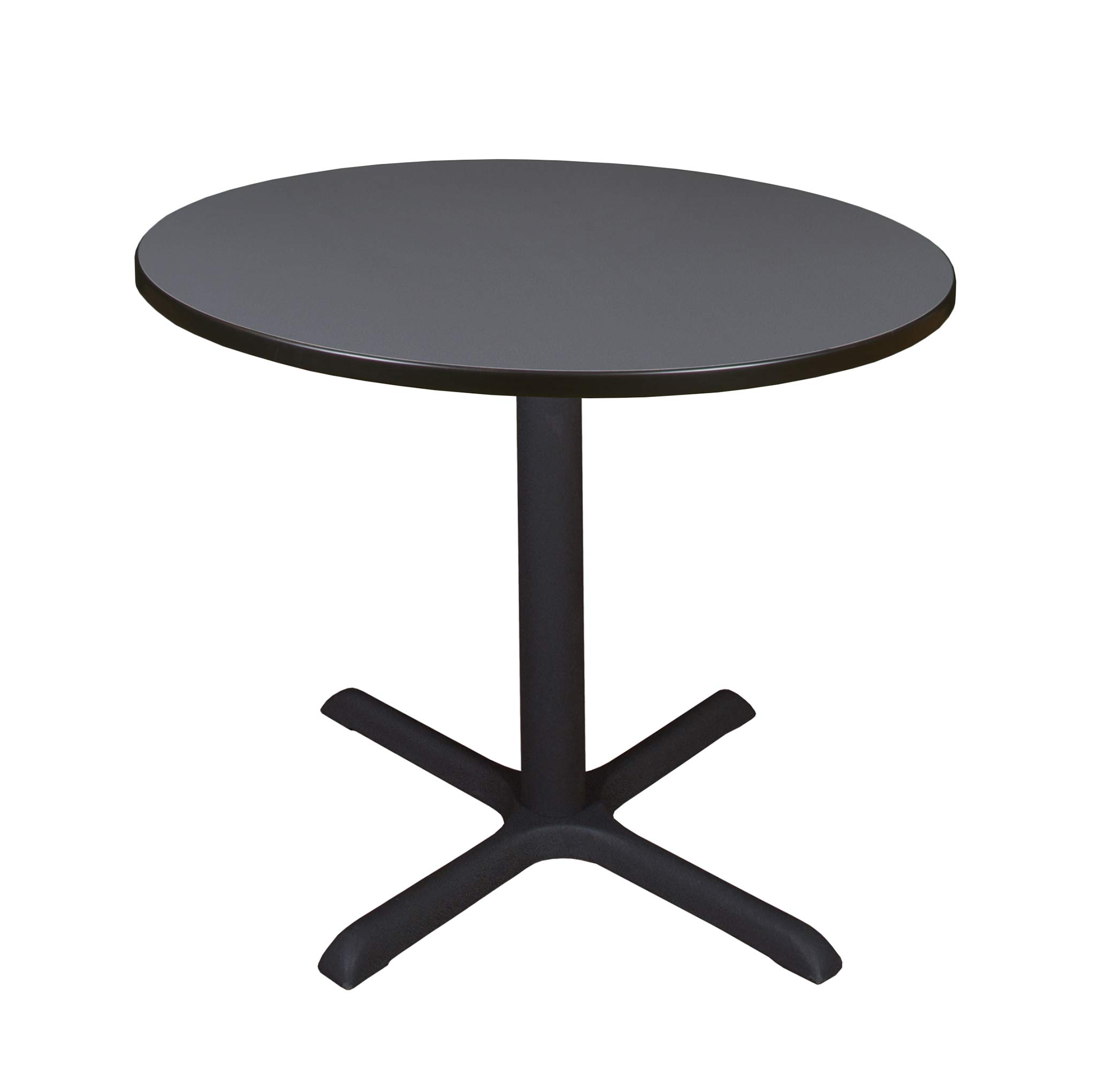 Regency A-TB36RNDSL Cali Round Breakroom Table, 36'', Slate