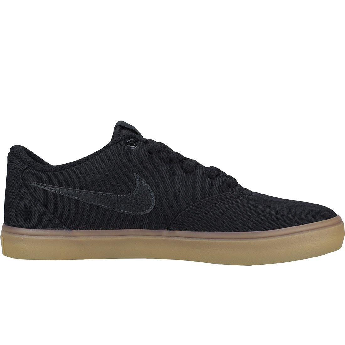 Nike Men's SB Check Solarsoft Canvas Skateboarding Shoes Black/Black-Gum Light Brown 10 by Nike (Image #6)