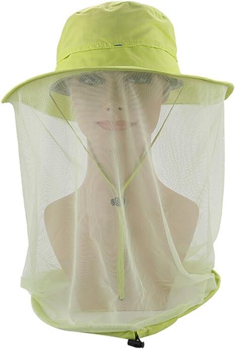 KATOOM Cappello di Testa a Rete,2 PCS Faciale per Proteggere Traspirante Comodo e conveniente Anti-Ape Maschera per Insetti Cappello da Apicoltore Pesca allaperto