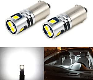 Phinlion 400LM Super Bright 3030 5-SMD BA9 BA9S 53 57 1895 64111 LED Car Light Bulb 12V 24V 6000K Xenon White