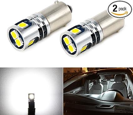 2 Pcs XENON White LED Side Light Upgrade Bulbs 9 SMD Canbus Error Free For 107