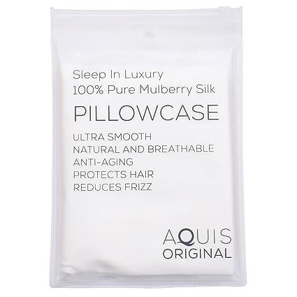 5be7ad85bc91 Amazon.com  AQUIS Original - 100% Pure Mulberry Silk Pillowcase ...