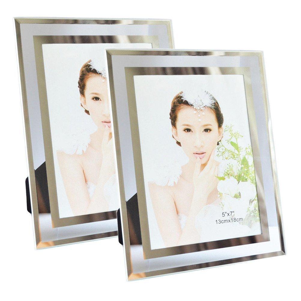 Amazon.de: Giftgarden Bilderrahmen 13x18 Glas Hochzeit Fotorahmen ...