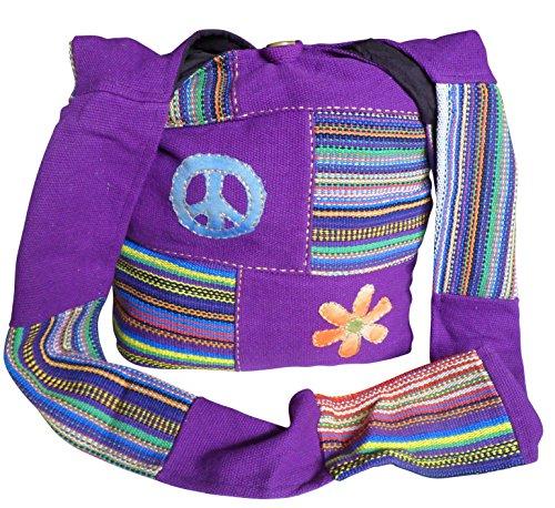 NATURAL FLOW - Bolso al hombro para mujer multicolor Arco Iris Large