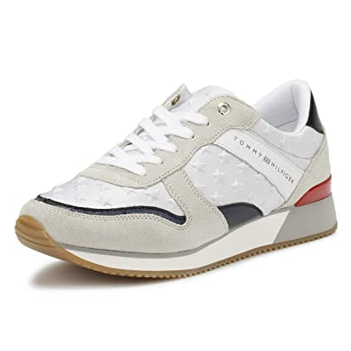 dc4ac95ae Tommy Hilfiger Womens White RWB Star Trainers-UK 7  Amazon.co.uk ...