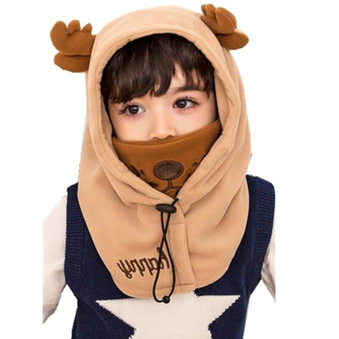 YUANMY Cappellino Bambino Invernale Berretto Animale Cappuccio Orecchie  Ragazzo Ragazza con Paraorecchie Suit per Bambini di adc9dd38d36a