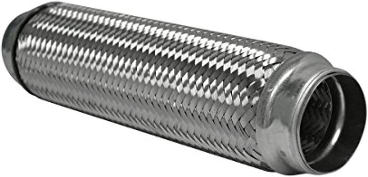 "Exhaust Flex Pipe 2.5/"" x 12/"" Heavy Duty Stainless Steel Length 16/""OL RK7548"