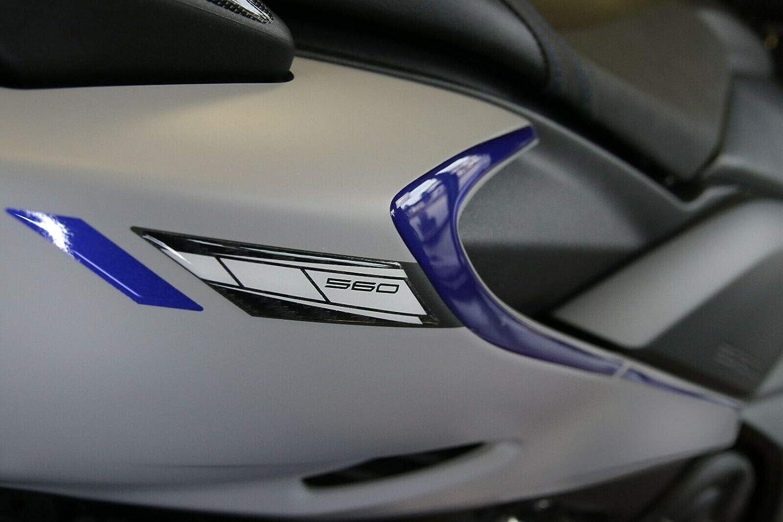 2 adhesivos de gel 3D guardabarros Carene Scooter compatibles Yamaha TMAX 560 desde 2020 Carbonio Blu Metal
