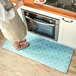 Ustide Rubber Backed Fancy Moroccan Runner Non-Slip Rug-Pizazz Collection Kitchen Dining Living Hallway Bathroom Pet Entry Rugs