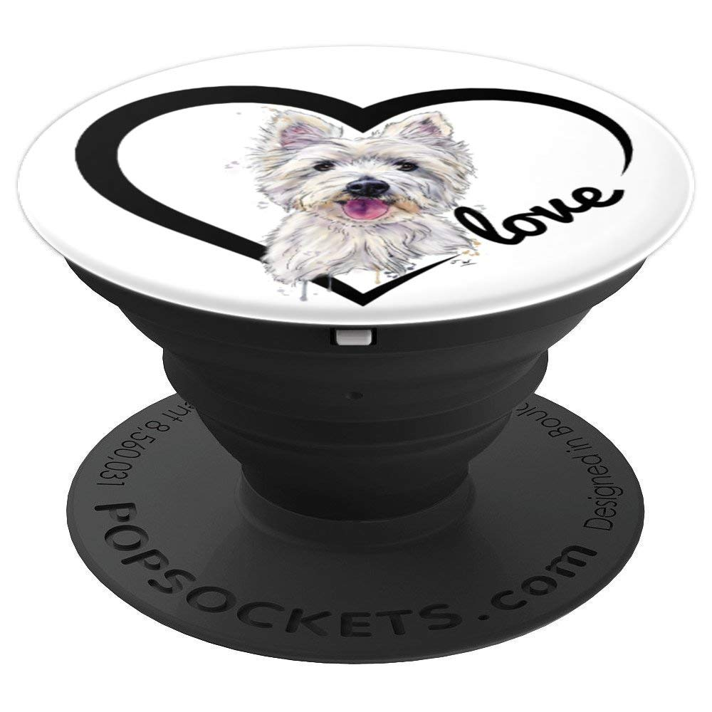 Amazon.com: West Highland White Terrier, Westie, Westie Gifts - PopSockets Grip and Stand for Phones and Tablets: Cell Phones & Accessories