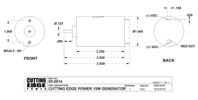Cutting Edge Power Dc Wind Turbine Project Motor Generator Gen001