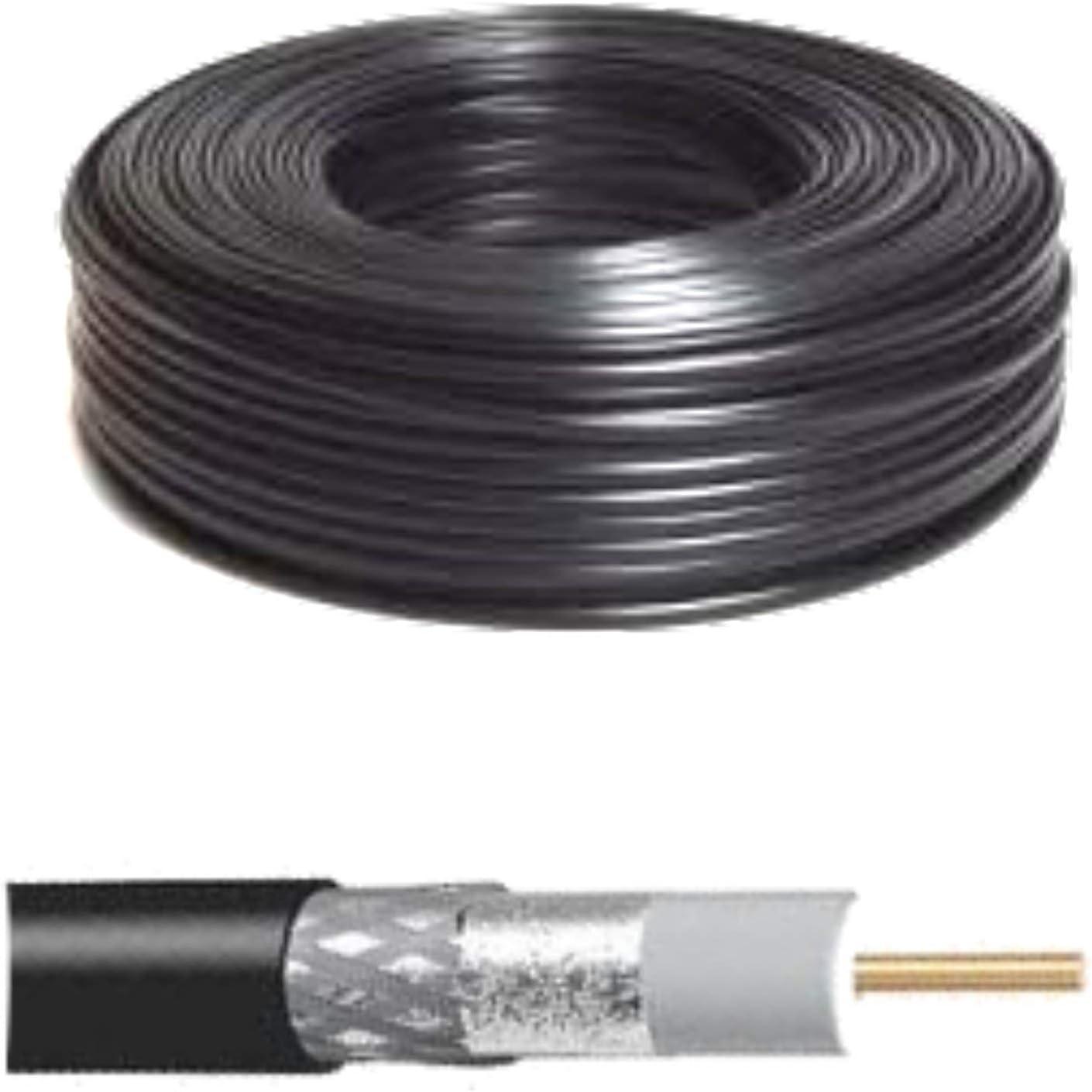 Bobina de 100 m Cable coaxial RG59 75 Ohm para cámaras HD ...