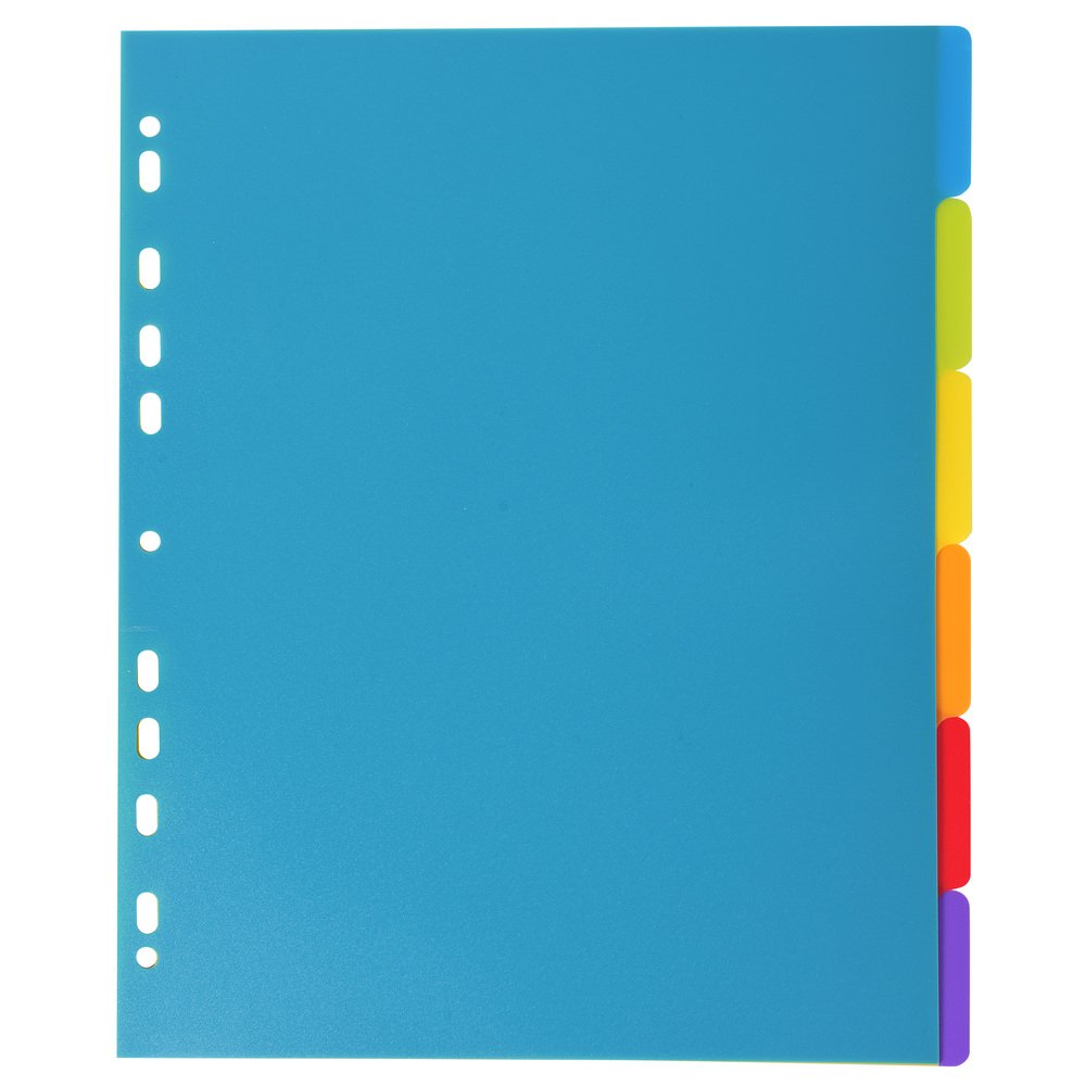 Exacompta Campus A4 Maxi PP Dividers, 5 Part, Multi-Coloured 3805E