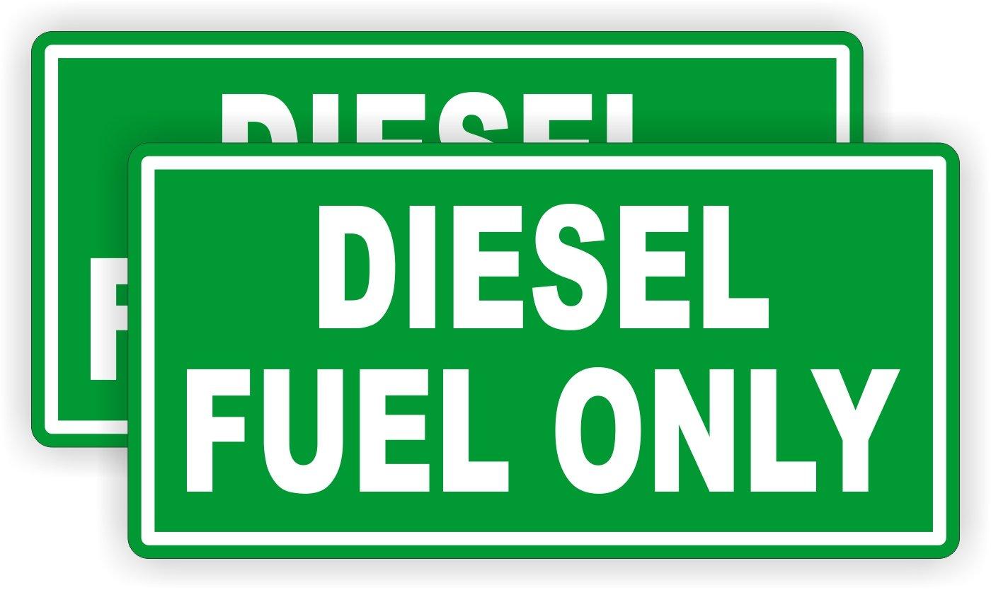 (2) Diesel Fuel Only Vinyl Decals | Stickers | Labels Fuel Transfer Tank Eco Pump Gas Door Label Weatherproof Pair JAY Graphics