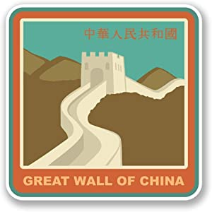 "Great Wall China Vinyl Sticker Decal Laptop Car Bumper Sticker Travel Luggage Car iPad Sign Fun 5"""