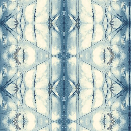 - York Wallcoverings Cloud Nine Transcendence Removable Wallpaper, Blues/Greens