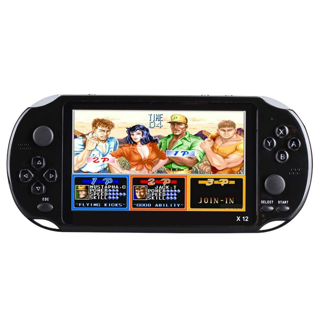 Basde Handheld Game Console Kids Adults, Mini Arcade Game Retro Machines for Kids with 3000 Classic Video Games Home Travel Portable Gaming System Childrens Tiny Toys Digital (Black) by Basde (Image #5)