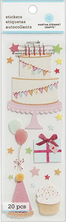 Stupendous Amazon Com Martha Stewart Crafts Cake Cupcake Birthday Stickers Funny Birthday Cards Online Overcheapnameinfo