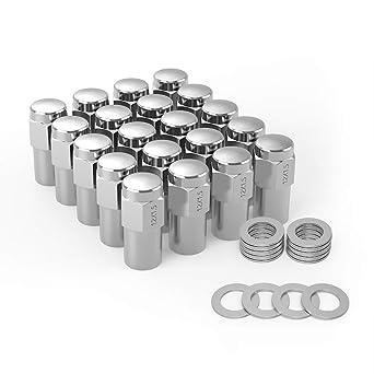 Amazon Com Maxiii Wheel Lug Nuts 12x1 5 20pcs Chrome Mag 0 75