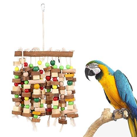 Xigeapg Juguete para Masticar para Pájaro Juguetes De Mordida ...