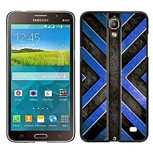 LECELL--Funda protectora / Cubierta / Piel For Samsung Galaxy Mega 2 -- Patrón Negro Cruz Azul --