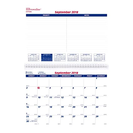 Sept Calendar 2020.Amazon Com Brownline 2019 Monthly Wall Calendar 16 Months Sept