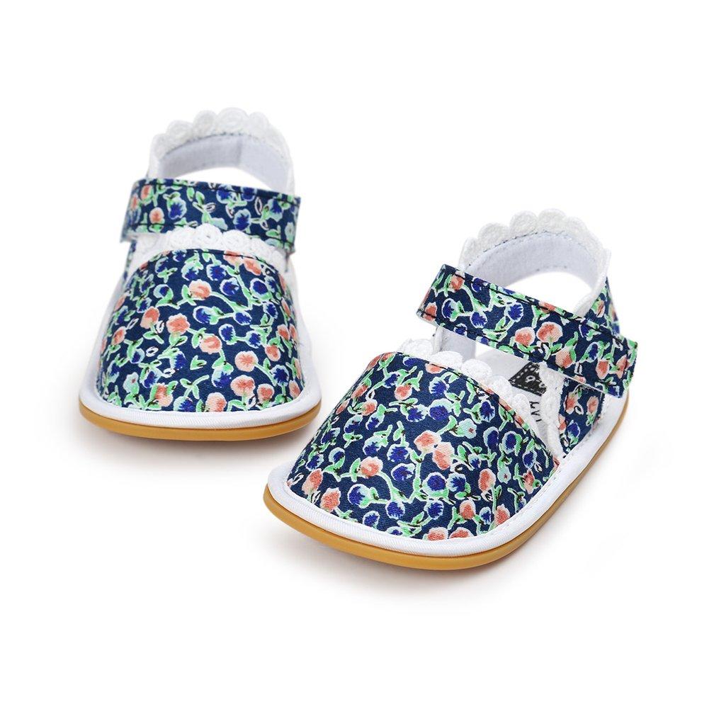 Neband Toddler Girls Sandals Baby Boys Girls Prewalker Rubber Sole Non-Slip Outdoor Summer Sandals