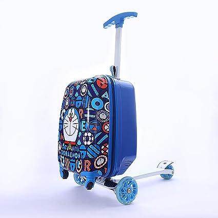 Maleta Para Niños Scooter Trolley Maleta Multifuncional De ...