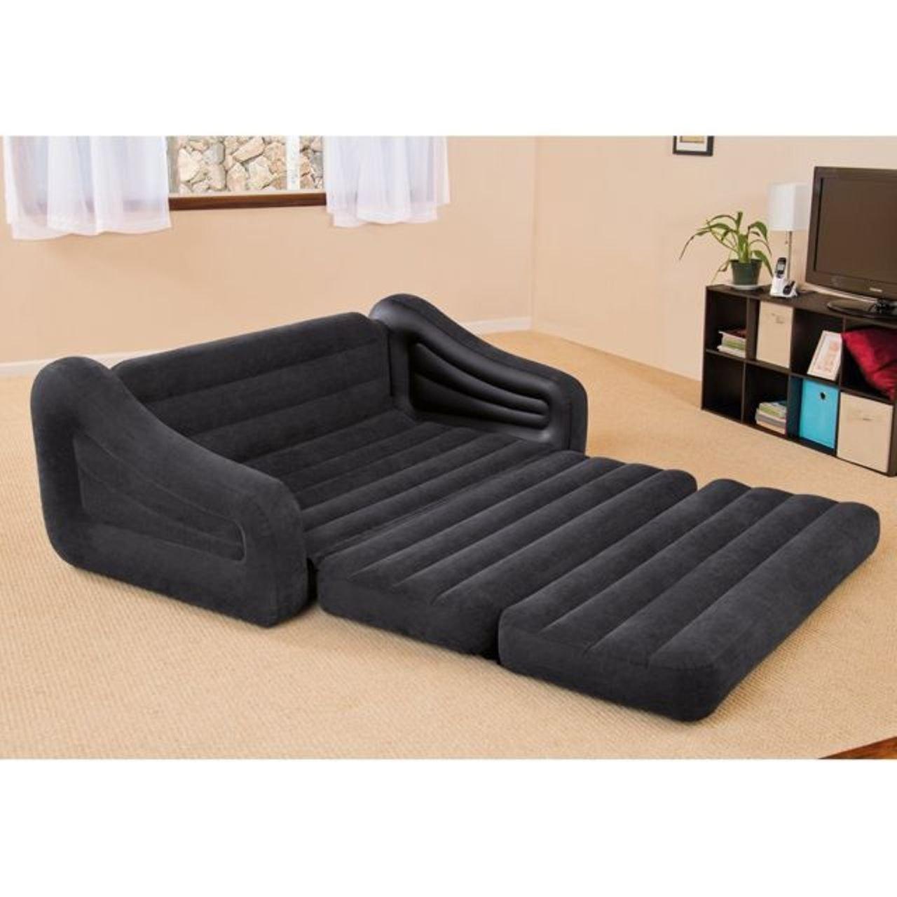 Intex Inflatable PullOut Sofa Bed Mattress Sleeper 68566Np