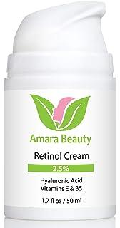 AMARA Organics retinol Crema Humedad Crema para la cara 2.5% con ácido hialurónico & vitaminas