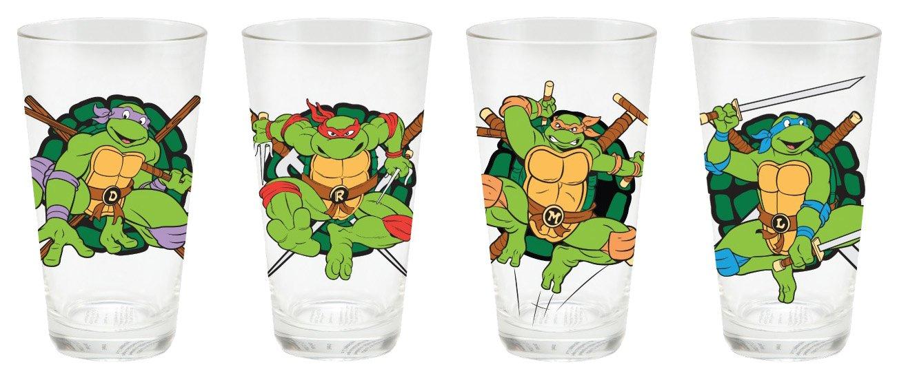 Vandor 53629 4-Piece Teenage Mutant Ninja Turtles Glass Set ...