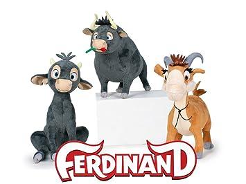 Pack de 3 Peluches de la película Ferdinand: Ferdinand, joven Ferdinand y cabra Lupe