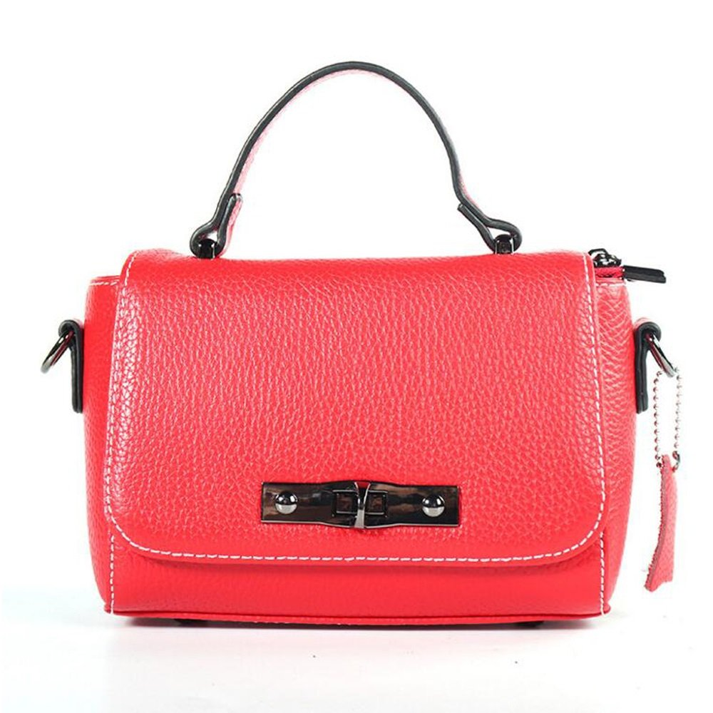 JUNBOSI プレミアムレザーハンドバッグ - レディースサマーショルダーバッグ - ストリート/スクールバッグ - ファッションパーティーバッグ B07CXSWHFW  赤 One Size