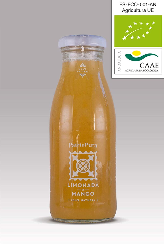 Limonada Ecológica PatriaPura. 100% Natural. 24 Botellas de 25cl. Vejer de la Frontera. (24 Mango)