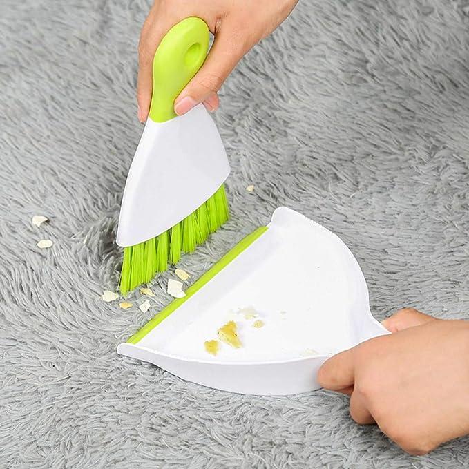 Balacoo 2 Juegos de Mini Escoba de Mano Y Recogedor de Polvo para Mascotas Peque/ña Escoba de Limpieza para Reptiles Conejillos de Indias Gatos Erizos Hamsters