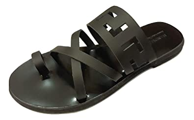 643ddd9d0ecff Amazon.com | Ancient Greek Style Genuine Leather Sandals Thong Roman ...