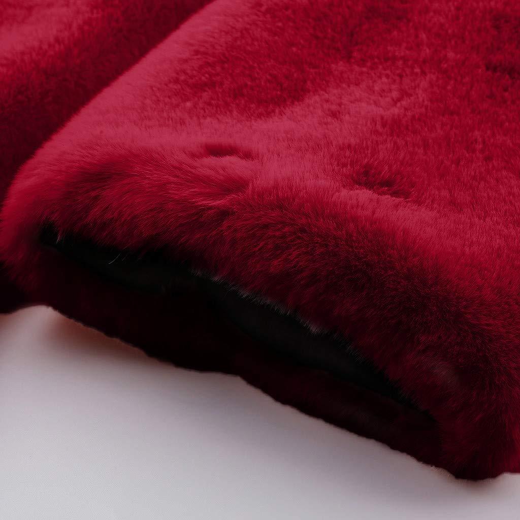 Trada Donna Giacca Lunga Pelliccia Sintetica Cappotto Invernali Maniche Lunghe Giacche Donne Parka Faux Fur Pelliccia Ecologica Cappotto PU Giacca in Pelle Cappotto Erba Coat Jacket