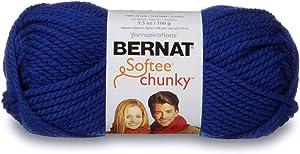 Bernat Softee Chunky Yarn, 3.5 Oz, Gauge 6 Super Bulky, Royal Blue