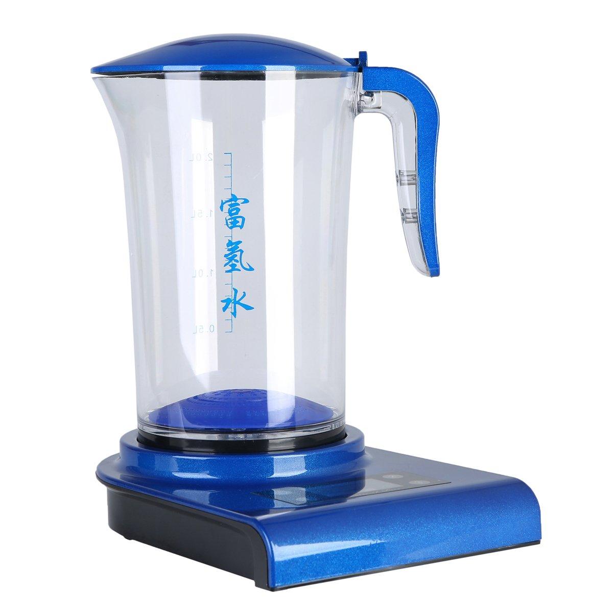Synteam 2.0L Hydrogen-Rich Water Maker Generator,Alkaline Water Generator, Water Ionizer,Filter Jug Maker Fucntional Water Bottle (blue)
