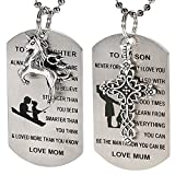 2Pcs Dog Tag Necklace W/ To My Son/Daughter - Best Reviews Guide