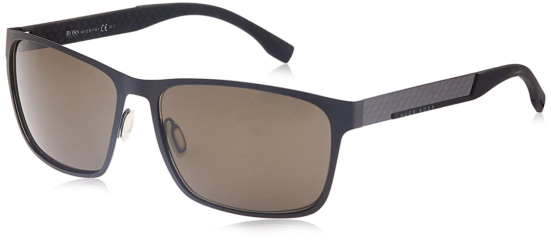 Hugo Boss Boss 0652/F/S NR HXJ Gafas de sol, Negro (Mttbk Carbon/Brw Grey), 62 Unisex-Adulto