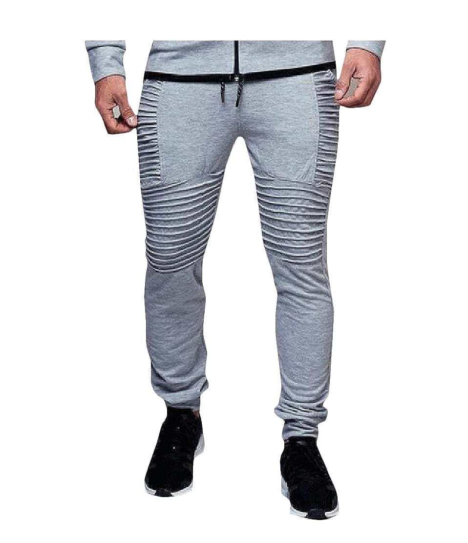 GloryA Mens Trousers Stripe Jogger Hip-Hop Sports Pants