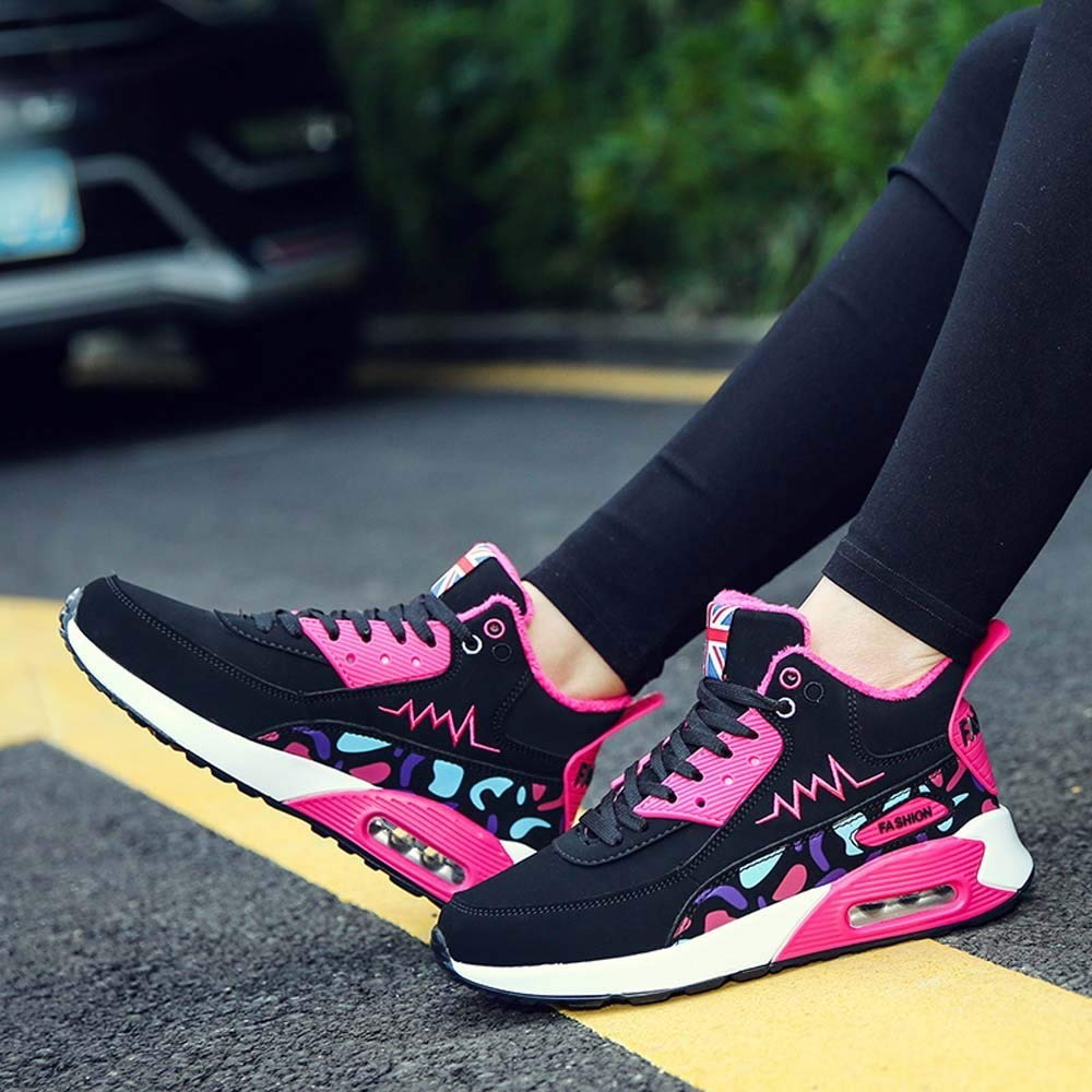Women Ladies Student Leisure High-Top Cotton Sport Shoes Lace Up Sneakers shoes