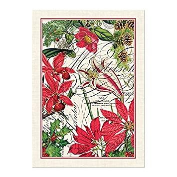 Michel Design Works Holiday Cotton Kitchen Towel, Red