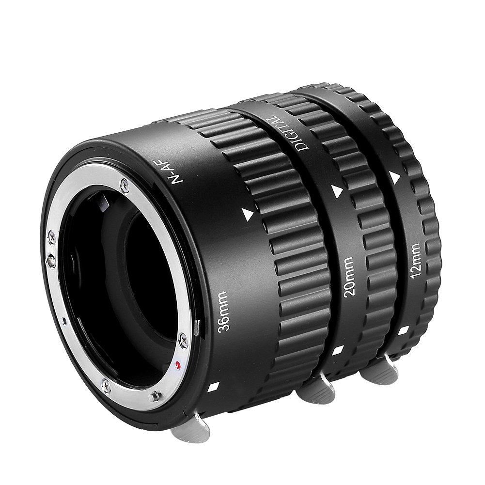 Neewer® 12mm, 20mm, 36mm AF Auto Focus ABS Extension Tubes Set for Nikon DSLR Cameras Such as D7200, D7100, D7000, D5300, D5200, D5100, D5000, D3300, D3200, D3000, D40, D40x, D100, D200, D300, D3, D3S, D700, D90
