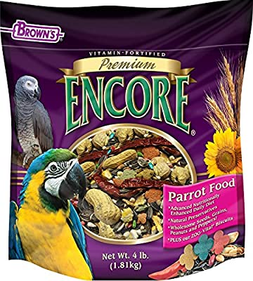 F.M. Brown's Encore Parrot Food, 4-Pound