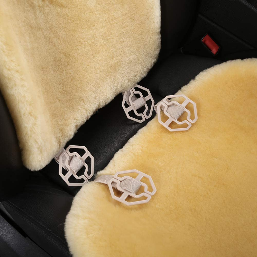 3 Pack Front, Black OGLAND 100/% Natural Fur Sheepskin Universal car seat Covers for seat Cushion Accessories Automobiles