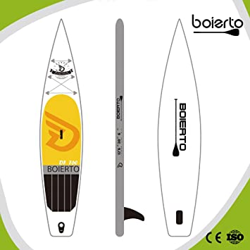 "boierto 12 6 ""Carrera de hinchable Stand Up Paddle Board SUP inflable de"
